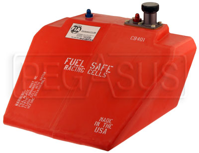 Large photo of Fuel Safe 6 Gallon Formula Car Enduro Cell, Left Filler, Pegasus Part No. FS CB401