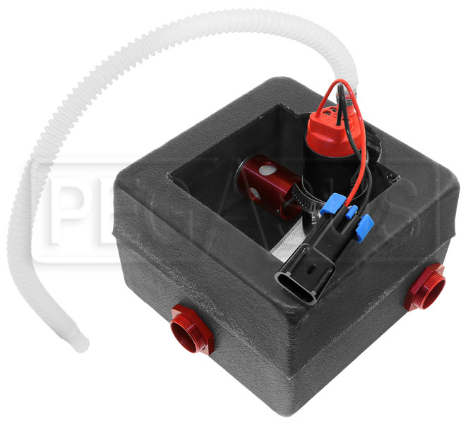 click for a larger picture of surge tank w/ aeromotive 340 stealth pump and  wiring