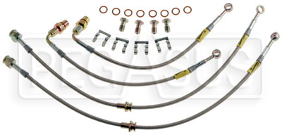 Large photo of G-Stop Brake Line Set, 03-up Mitsubishi Evo 8 / 9, Pegasus Part No. GS-26052