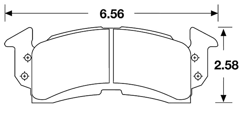 Large photo of Hawk Brake Pad, GM, Chevrolet Front (D52), Pegasus Part No. HB103-Compound-Thickness