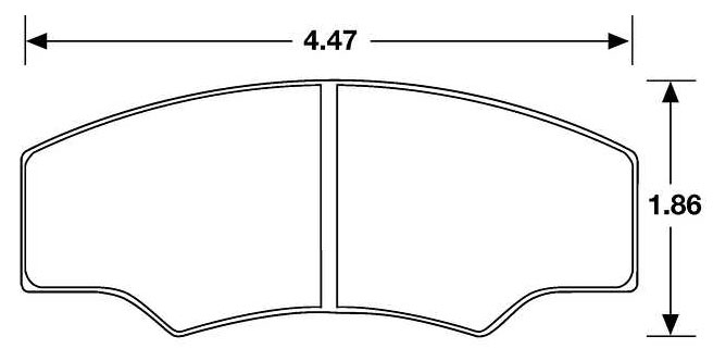 Large photo of Hawk Brake Pad, Formula Atlantic, F3000, Rally, Alcon, AP, Pegasus Part No. HB107-Compound-Thickness