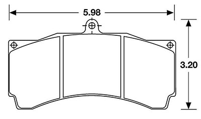 Large photo of PFC Racing Brake Pad, Trans-Am, Group C, LMP/DP, AP, Alcon, Pegasus Part No. PF790-Size