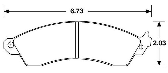 Large photo of PFC Racing Brake Pad, Corvette, Cobra, Camaro w/1LE (D412), Pegasus Part No. PF412-Size