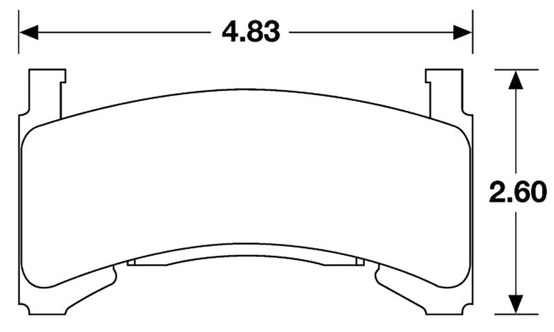 Large photo of Hawk Brake Pad, 82-92 Camaro/Firebird, w/o 1LE (D154), Pegasus Part No. HB119-Compound-Thickness
