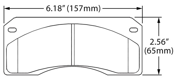 Large photo of Hawk Brake Pad, Corvette Twin Pin, Pegasus Part No. HB128-Compound-Thickness