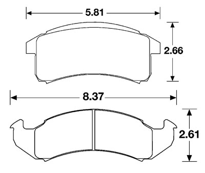Large photo of PFC Racing Brake Pad, 93 Camaro/Firebird, GM (D505), Pegasus Part No. PF505-Size