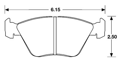 Large photo of PFC Street Brake Pad, Audi, BMW E32/E34/E36, Jag XJ (D394), Pegasus Part No. PF394Z