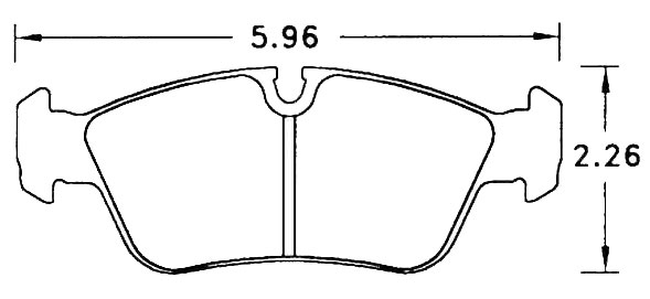 Large photo of PFC Street Brake Pad, BMW E30/E36/E46 (D558), Pegasus Part No. PF558Z