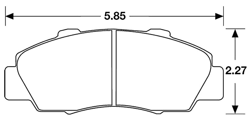Large photo of Hawk Brake Pad, Integra Type R, NSX, Prelude (D503), Pegasus Part No. HB143-Compound-Thickness