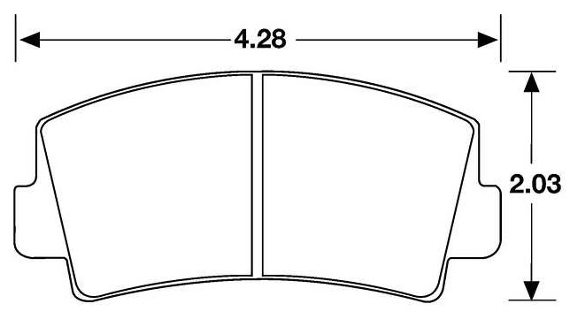 Large photo of Hawk Brake Pad, 79-85 RX7 Front No F.I. (D76), Pegasus Part No. HB150-Compound-Thickness