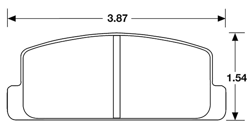 Large photo of Hawk Brake Pad, 79-85 RX7 Rears No F.I. (D235), Pegasus Part No. HB151-Compound-Thickness