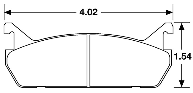 Large photo of Hawk Brake Pad, 90-93 Mazda Miata Rear, Escort Rear (D458), Pegasus Part No. HB157-Compound-Thickness