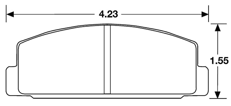 Large photo of Hawk Brake Pad, 84-95 RX7 Rear F.I. (D283 D332), Pegasus Part No. HB158-Compound-Thickness