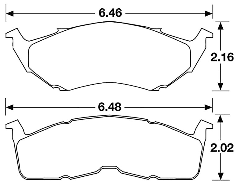 Large photo of Hawk Brake Pad, Dodge/Plymouth Neon 95-99 (D642), Pegasus Part No. HB177-Compound-Thickness