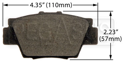 Large photo of Hawk Brake Pad: Acura NSX rear (D504), Pegasus Part No. HB185-Compound-Thickness