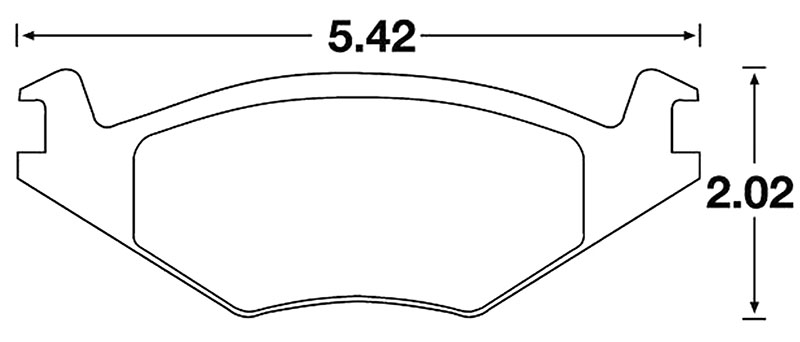 Large photo of Hawk Brake Pad, VW Golf & Rabbit (D280, D569), Pegasus Part No. HB189-Compound-Thickness