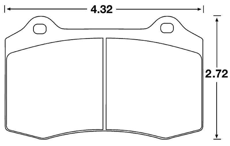 Large photo of Hawk Brake Pad, Alfa, Cobra R, Jaguar, Lotus, Viper (D592), Pegasus Part No. HB194-Compound-Thickness