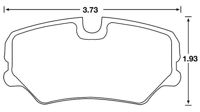 Large photo of Hawk Brake Pad, Alfa, BMW, SAAB, Mercedes 190E (D439), Pegasus Part No. HB195-Compound-Thickness