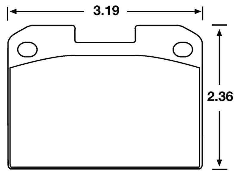 Large photo of Hawk Brake Pad, 95-96 Dodge Stealth AWD rear (D631), Pegasus Part No. HB201-Compound-Thickness