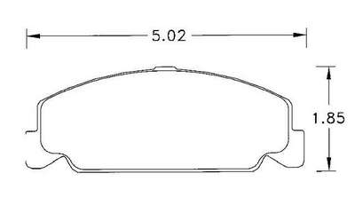 Large photo of Hawk Brake Pad, Honda Civic (D560), Pegasus Part No. HB209-Compound-Thickness