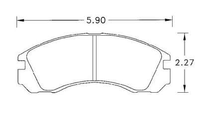 Large photo of Hawk Brake Pad, Stealth / Talon / Eclipse / Laser (D530), Pegasus Part No. HB214-Compound-Thickness