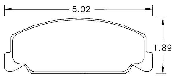 click for a larger picture of hawk brake pad, 88-89 honda crx si