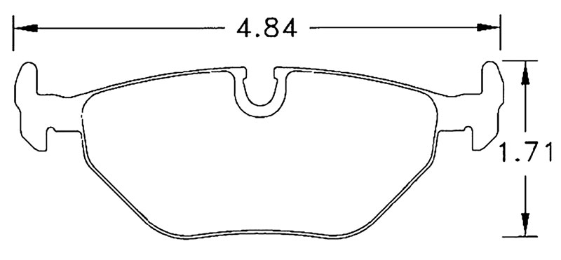 Large photo of Hawk Brake Pad, BMW Rear, SAAB 9-5 Rear (D396), Pegasus Part No. HB227-Compound-Thickness
