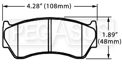 Large photo of Hawk Brake Pad, Nissan 200SX, Sentra (D668), Pegasus Part No. HB236-Compound-Thickness
