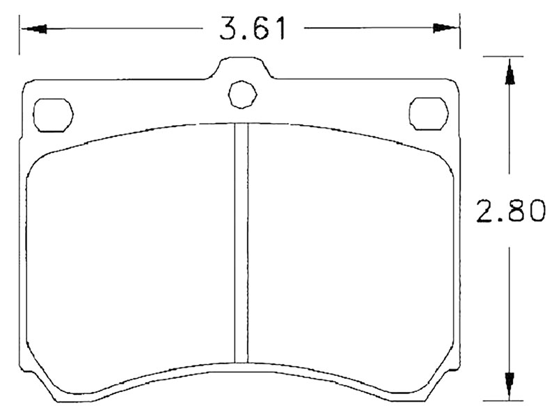 Large photo of Hawk Brake Pad, Ford Escort, Mazda, Mercury (D473), Pegasus Part No. HB246-Compound-Thickness