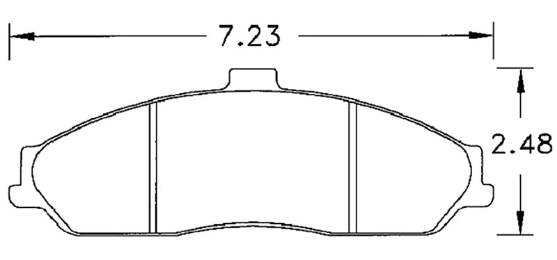 Large photo of Hawk Brake Pad, Corvette C5 Z06, C6, XLR (D731), Pegasus Part No. HB247-Compound-Thickness