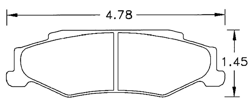 Large photo of Hawk Brake Pad, Corvette C5 Z06, C6, XLR Rear (D732), Pegasus Part No. HB248-Compound-Thickness