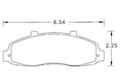 Large photo of PFC Street Brake Pad, Ford F150, Lincoln Blackwood (D679), Pegasus Part No. PF679Z