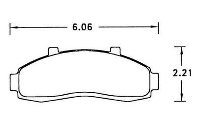 Large photo of Hawk Brake Pad, Ford Explorer, Mazda B-Series (D652), Pegasus Part No. HB283-Compound-Thickness