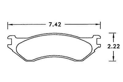 Large photo of Hawk Brake Pad, Expedition / Navigator / Lightning (D702), Pegasus Part No. HB299-Compound-Thickness