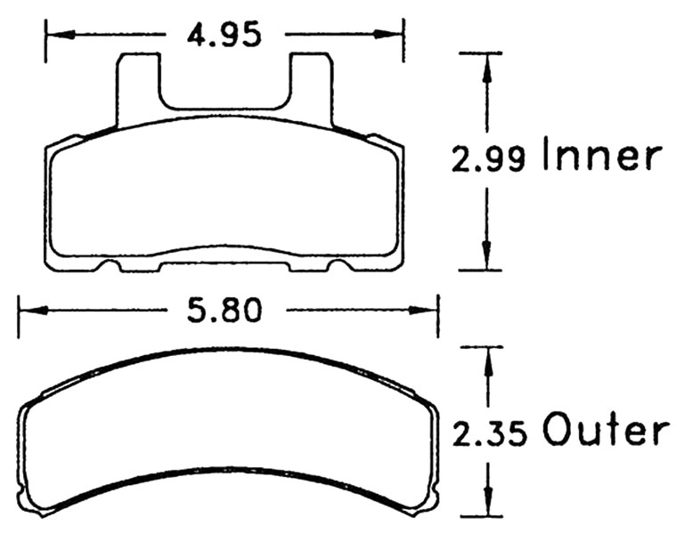 Large photo of Hawk Brake Pad, Chevy/GMC, Dodge Truck (D369), Pegasus Part No. HB332-Compound-Thickness