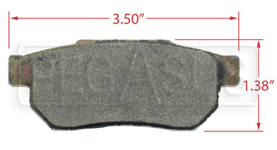 Large photo of Hawk Brake Pad, Acura, Honda Rear (D374), Pegasus Part No. HB350-Compound-Thickness