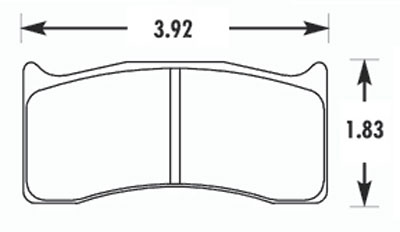 Large photo of Hawk Brake Pad, Brembo, Wilwood, Swift 014a, Pegasus Part No. HB351-Compound-Thickness