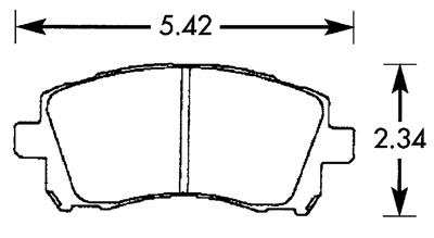 Large photo of Hawk Brake Pad, 02 Subaru WRX (D721), Pegasus Part No. HB352-Compound-Thickness