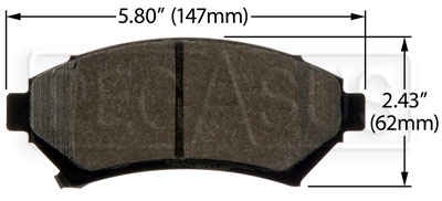 Large photo of Hawk Brake Pad: Buick, Cadillac, Chevy, Olds, Pontiac (D699), Pegasus Part No. HB360-Compound-Thickness