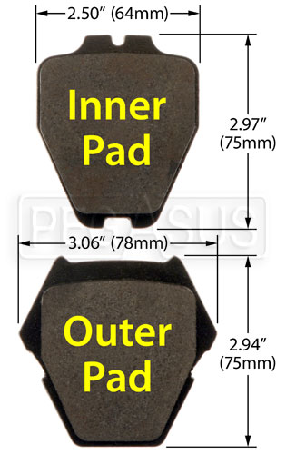 Large photo of Hawk Brake Pad: Audi, Volkswagen (D839), Pegasus Part No. HB363-Compound-Thickness