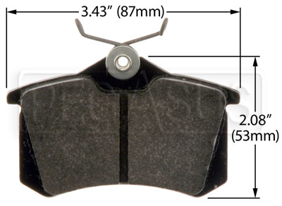 Large photo of Hawk Brake Pad: Audi, VW Rear (D340, D1017), Pegasus Part No. HB364-Compound-Thickness