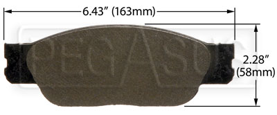 Large photo of Hawk Brake Pad: Ford, Jaguar, Lincoln (D805), Pegasus Part No. HB376-Compound-Thickness
