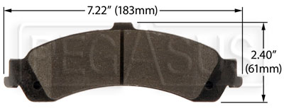 Large photo of Hawk Brake Pad: Cadillac, Chevy/GMC Truck Rear (D834), Pegasus Part No. HB385-Compound-Thickness