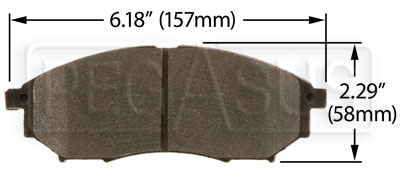 Large photo of Hawk Brake Pad: 2004-08 Nissan 350Z, Infiniti G35 (D888), Pegasus Part No. HB387-Compound-Thickness