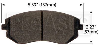 Large photo of Hawk Brake Pad: 03-05, 08-09 Subaru WRX, Saab 9-2X (D929), Pegasus Part No. HB432-Compound-Thickness