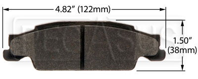 Large photo of Hawk Brake Pad: Cadillac 03-08 CTS, 05-08 STS Rear (D922), Pegasus Part No. HB440-Compound-Thickness