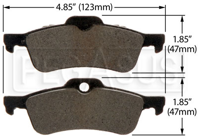 Large photo of Hawk Brake Pad: BMW Mini Cooper Rear (D1060), Pegasus Part No. HB445-Compound-Thickness