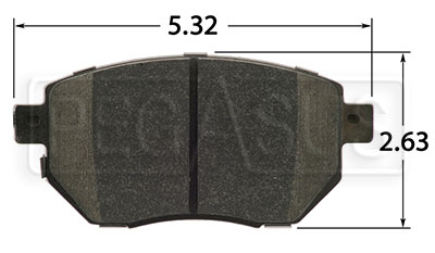 Large photo of Hawk Brake Pad, Infiniti, Nissan (D969), Pegasus Part No. HB448-Compound-Thickness