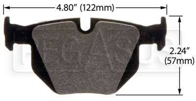 Large photo of Hawk Brake Pad: BMW Rear (D1042), Pegasus Part No. HB458-Compound-Thickness