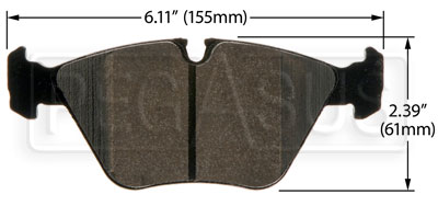 Large photo of Hawk Brake Pad: BMW 03-06 M3, 06-08 Z4 (D946), Pegasus Part No. HB464-Compound-Thickness